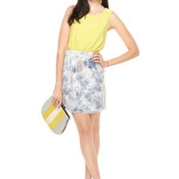 RACHEL Rachel Roy Dresses & Skirts - Rachel Roy Yellow and Blue/White Sequin Dress